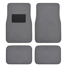 BDK Classic Series Carpet Floor Mats for Cars - 4pc Front & Rear -Original Gray