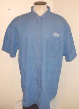 Denim Chambray Casual Short Sleeve Work Shirt 2XL Men's (Logo NWOT) 100% Cotton