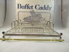 Silverplate Acrylic Buffet Caddy Silverware Holder Vintage Leonard Towle Iob Guc