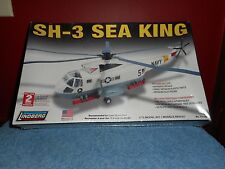 NAVY SEA KING SH-3 LINDBERG MODEL KIT 1/72 SCALE NEW SEALED MILITARY HELICOPTER