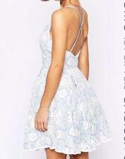 V Neck Skater Floral Petite Dresses for Women
