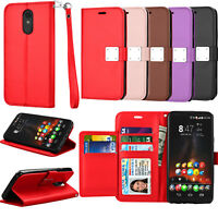 For LG Stylo 4 Wallet PU Leather Folding Flip Stand Strap Card Slots Case Cover