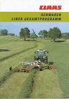 Claas Schwader Liner Prospekt 8/99 brochure 1999 Landmaschine prospectus Agri