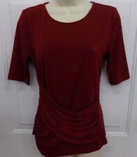 Ann Taylor Women's Small Burgundy Short Sleeve Shirt NEW MSRP $49 for Top