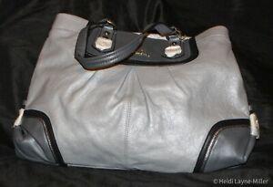 Coach F17096 Gray Leather Ashley Spectator Shoulder Bag Tote Satchel Handbag NEW