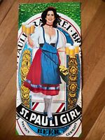 Vintage 1990 St. Pauli Girl Beer Magazine Gatefold Poster ~ Centerfold 11X22