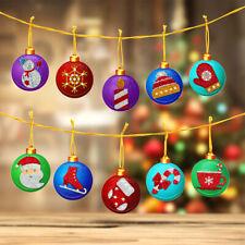 Cross Stitch Xmas Ornament 5D Diamond Painting Christmas Tree Pendant