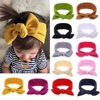 Toddler Baby Girl Big Bow Knot Headband Nylon Hairband Stretch Turban Head Wrap