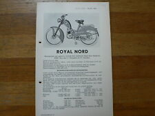 ROYAL NORD 1952 ONWARDS SERVICE AND REPAIR GUIDE AND PART LIST BROMFIETS MOPED