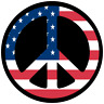 American Flag Peace Sign USA Symbol Car Truck Window Decal Vinyl Laptop Sticker