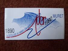 AUTOCOLLANT STICKER AUFKLEBER ADER EOLE MURET 1890-1990 DECOLLAGE AVION MOTEUR