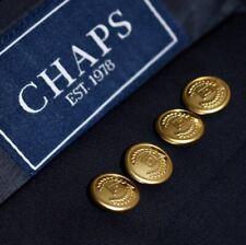 48R Chaps Ralph Lauren Gold Button Navy Blue Blazer Sport Coat Jacket