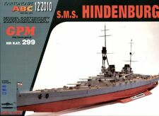 German Battlecruiser SMS Hindenburg card paper model 1:200 huge 106cm