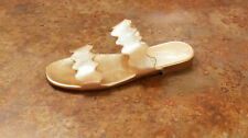 New! Prada 'Wave' Slide Sandal Rose Gold Leather Womens 8 US 38 Eur. MSRP $590