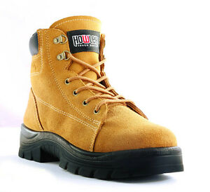 Howler Suede Lace Up Safety Boots Size 4-14