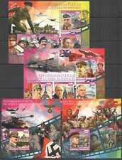XZ0054-5 2016 MADAGASCAR HITLER STALIN WORLD WAR II WWII LEADERS 2BL+2KB MNH