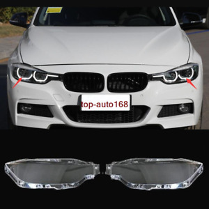 Right&Left Headlight Headlamp Lens Cover 2pcs For BMW 3 Series F30 F35 2016-2018
