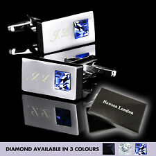 Personalised Stainless Mens Wedding Gift Cufflinks Engraved Groom Gift For Him