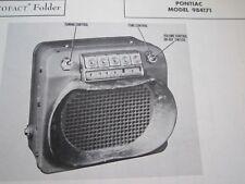 1946, 1947, 1948 PONTIAC 984171 DELUXE RADIO PHOTOFACT