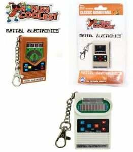 World's Coolest Electronic Game Classic Football Baseball Basketball Keychain