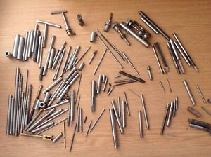 Steel Rods Bars Tube  & Tools From Engineer Watchmakers Clockmakers Colle