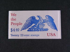 United States Booklet # BK 162 Constitut Complete 20 - 22c Stamps Nice MNH  s665