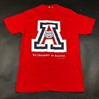 Vintage University of Arizona Wildcats Tee T Shirt Adult M 1996 Red A Logo