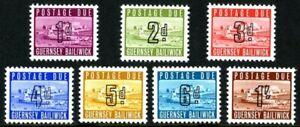 GUERNSEY 1969 ALL 7 TO PAY / POSTAGE DUE STAMPS D1 - D7 MNH