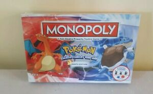 Pokemon Monopoly Kanto Edition |Board Game | New & Sealed | 2016