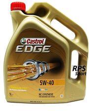 5 Litre Castrol EDGE FST 5w40 5L AUDI A5 Décapotable