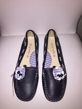 Garvalin  leather girls loafers sz 34 Eur/ 3 US