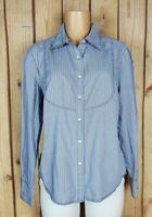 TOMMY HILFIGER Womens Size XL Long Sleeve Shirt Button Down Geo Print Cotton Top