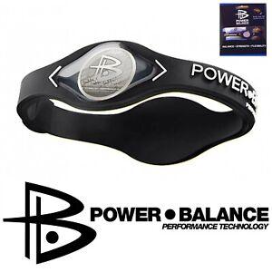PowerBalance Silicone Wristband Power Balance Energie Armband Black Größe L NEU