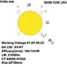 High CRI 95+ High Power Density COB LED Daylight 5600K 47-56V 4.1A 200W 21000lm