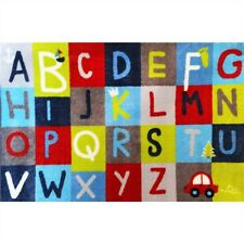 Kids Rug 133 x 200cm Alphabet letters Superior Quality- Rubberbacking Non-slip