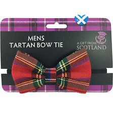 TARTAN BOW TIE Scotland ROYAL STEWART Wedding Burns Night NYE Highland Dress UK