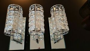 Stunning Crystal and Chrome Wall lights (IP44 Rating - suitable for bathrooms)