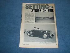 """1934 Ford Roadster B/SR Vintage Drag Car Article """"Setting the Strips on Fire"""""""