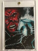 Marvels Red Skull Sketch Card By Gerald De Dios 1 of 1
