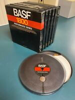 """BASF Reel to reel Tapes-Used (Recorded) 7""""- 1800 Ft. 6 tapes in Cases"""