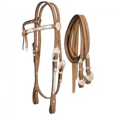 Full Silver Show Futurity Brow Headstall - Light Oil - NEW - 18-34 -