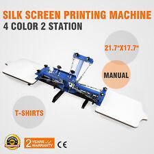 4 Color 2 Station Silk Screen Printing Machine Wood Carousel Printer WHOLESALE