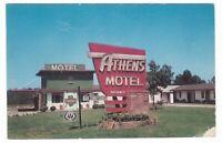 1950's ATHENS MOTEL GEORGIA HWY 441 ROADSIDE VINTAGE POSTCARD GA OLD NICE !!!