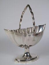 Georgian Irish silver sugar basket. Richard Sawyers Dublin 1798