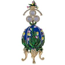 "1898 Lilies of the Valley Faberge Egg 4.75"" New"
