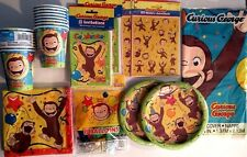 Curious George Party Compleanno Supply Deluxe Kit Palloncini, Adesivi, Inviti