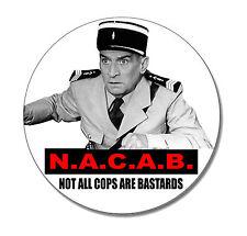 N.A.C.A.B. Button NEU 2,5cm Punk Louis de Funes Fun Skinhead Oi! Kult A.C.A.B.
