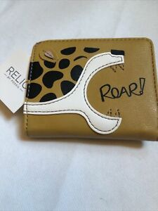 Relic By Fossil ROAR Leopard Bifold Wallet Cards ID's Holder RFID Security NWT