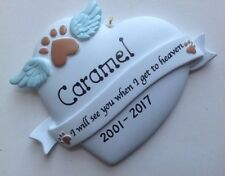 Personalized Christmas Ornament In Memory of Pet Dog, Cat, RIP, In Loving Memory