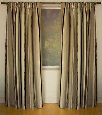 Polycotton Striped Curtains & Pelmets with Pencil Pleat